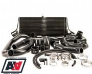 Process West Black Front Mount Intercooler Kit - GRB 2008 - 2014 WRX